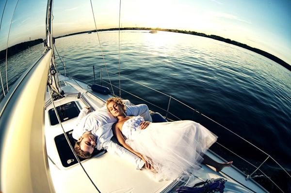 Onboard a Yacht