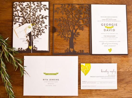 Modern Rustic Wedding Invitation...