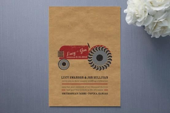 Country Rustic Wedding Invitation...