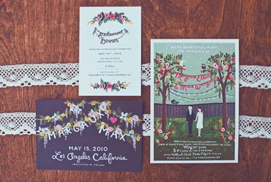 Vintage Rustic Wedding Invitation...