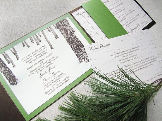 Winter Rustic Wedding Invitation...