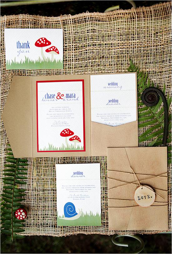 Woodland Rustic Wedding Invitation...