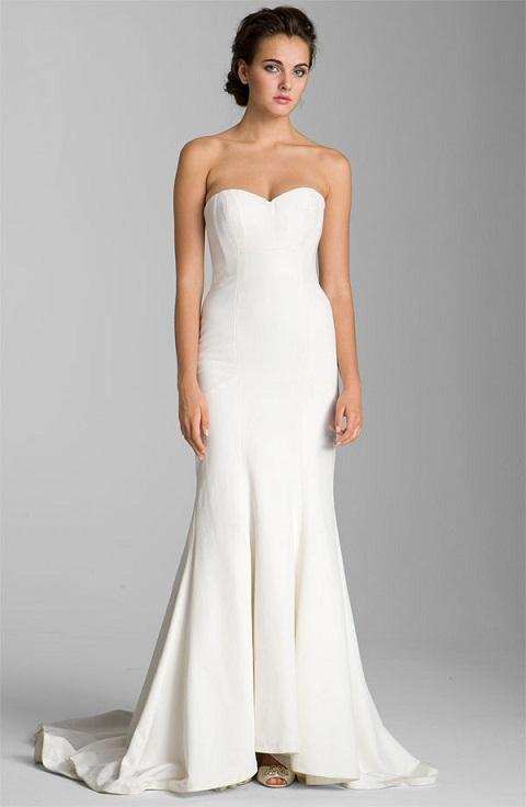 Nicole Miller Trumpet Wedding Dress...