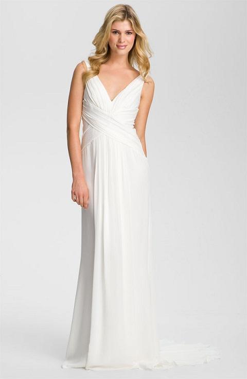 Nicole Miller V-Neck Wedding Dress...