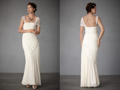 BHLDN Draped Goddess Wedding Dress...