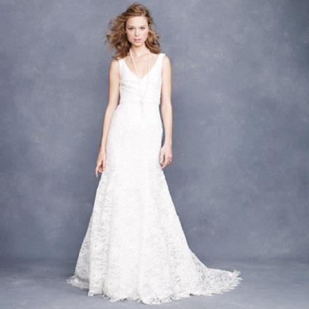 J.Crew Lace Fit & Flare Wedding Dress...