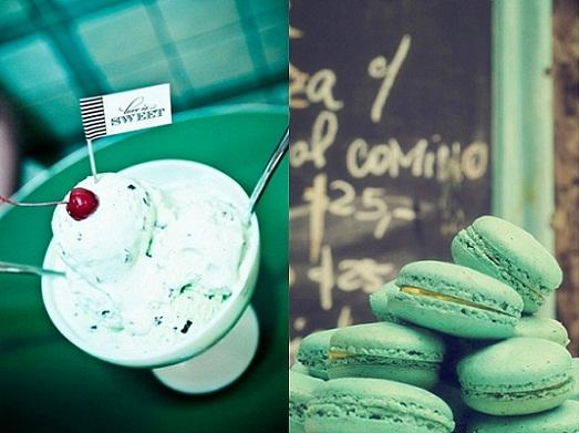 Mint Green Wedding Dessert Table...
