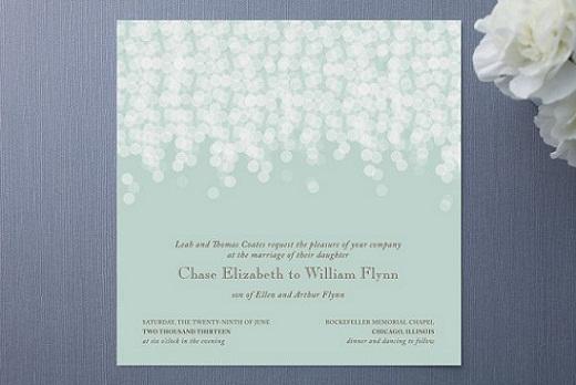 Mint Green Wedding Invitation...