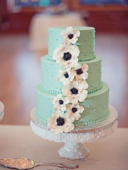 Mint Green Wedding Cake...