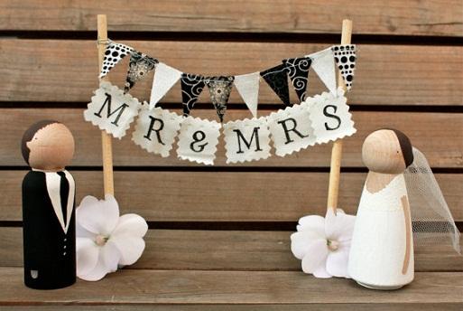 Mr. & Mrs. Cake Topper...