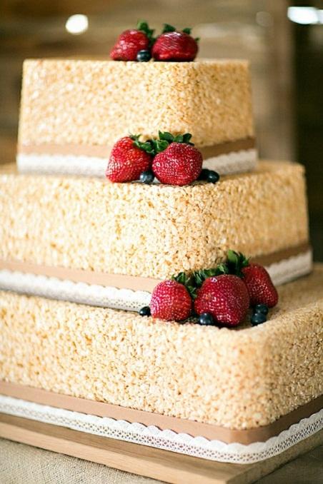 Rice Krispie Treat Wedding Cake...