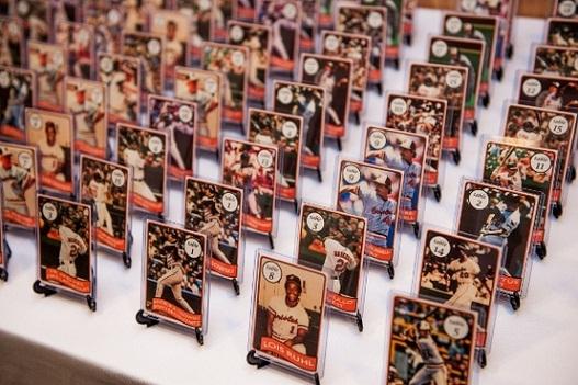 7. Baseball Theme Wedding Escort Cards...