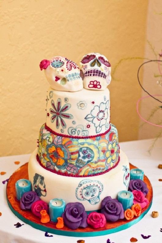 Dia De Los Muertos Wedding Cake...