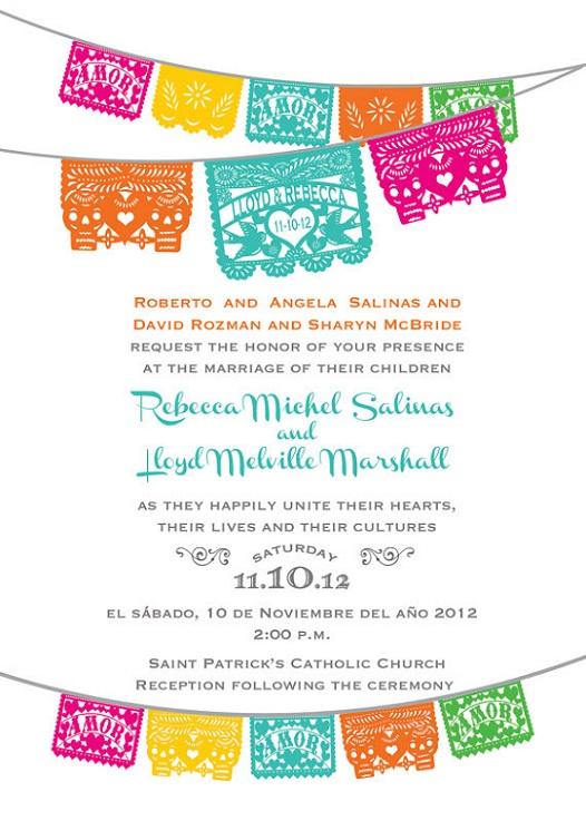 Dia De Los Muertos Wedding Invitations...