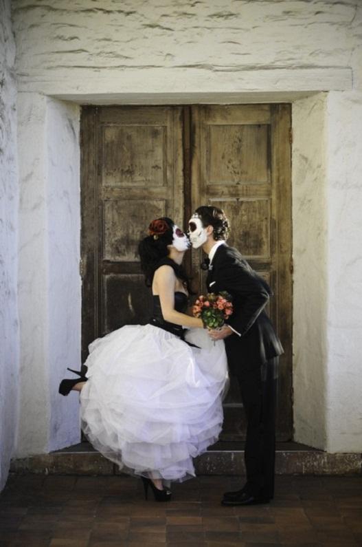 Dia De Los Muertos Wedding Makeup...