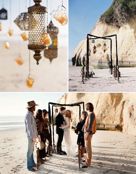 Bohemian Chic Wedding Ceremony...