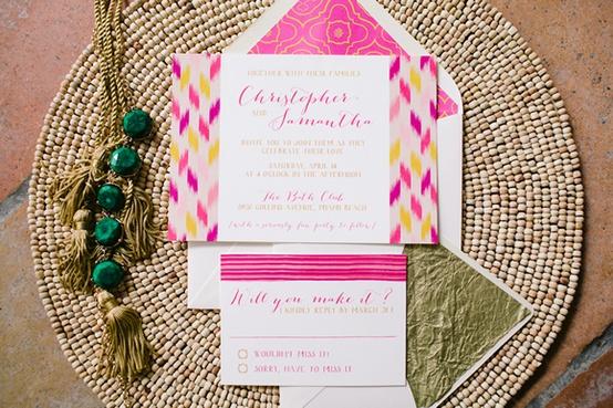 Bohemian Chic Wedding Invitation...