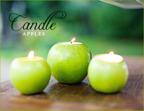 Apple Decor Wedding Candles...