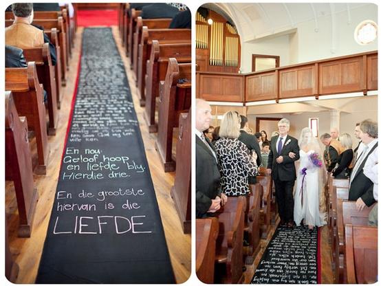 Chalkboard Wedding Aisle Runner...