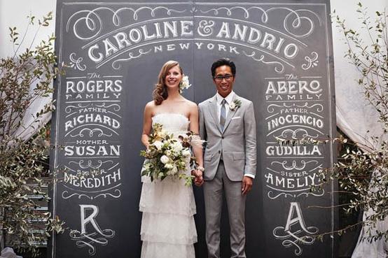 Chalkboard Wedding Altar...