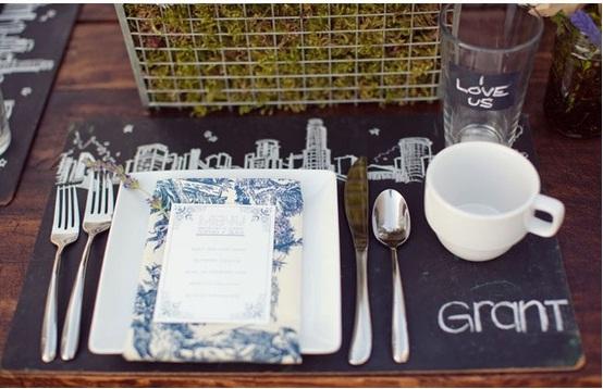 Chalkboard Wedding Placemat...