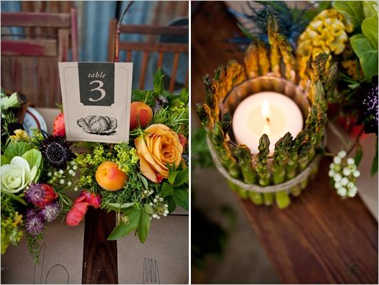 Foodie Themed Wedding Centerpiece...