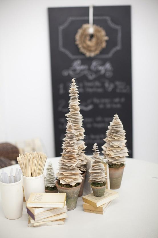 Christmas Wedding Paper Trees...