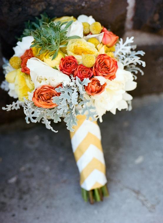 Chevron Themed Wedding Bouquet...