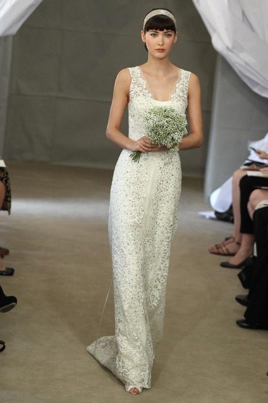 Carolina Herrera Lace Gown...
