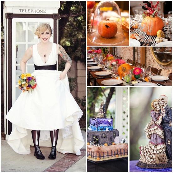 Halloween Holiday Theme Wedding...