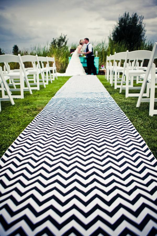 Chevron Themed Wedding Ceremony...