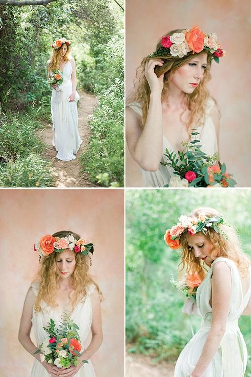 Dramatic Bridal Floral Crown...