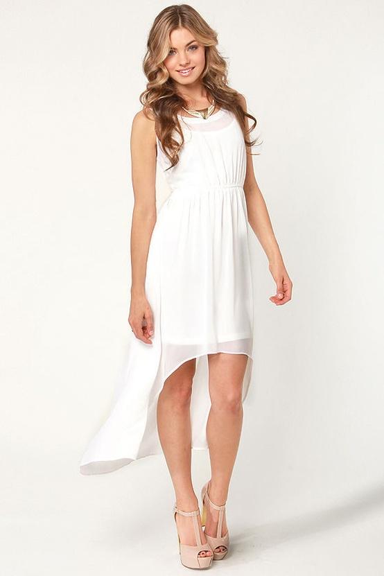 A High-Low Elopement Dress...