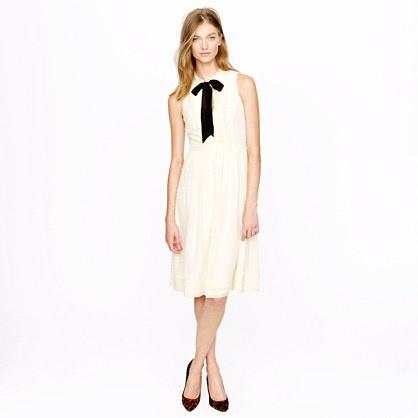 Swiss-Dot Chiffon Elopement Dress...