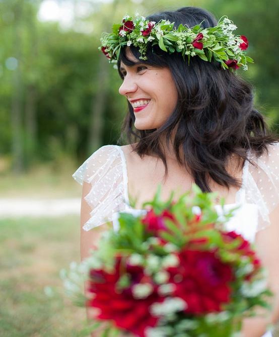Matching Bridal Floral Crown...