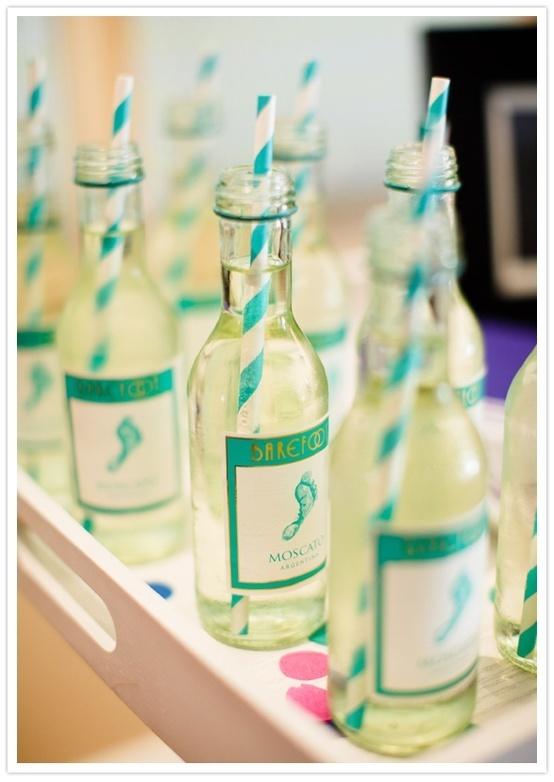 Mini Wine Bottle Cocktails