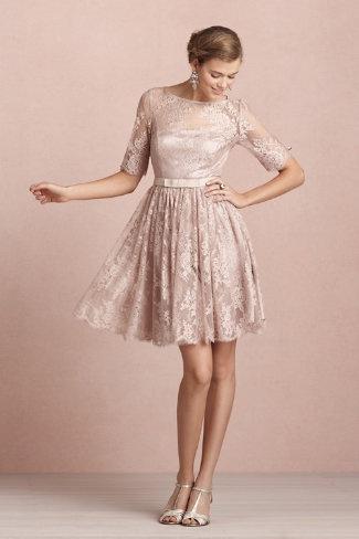Tea Length Winter Bridesmaid Dress