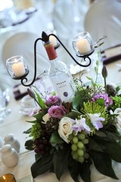 Wine-Themed Table Décor