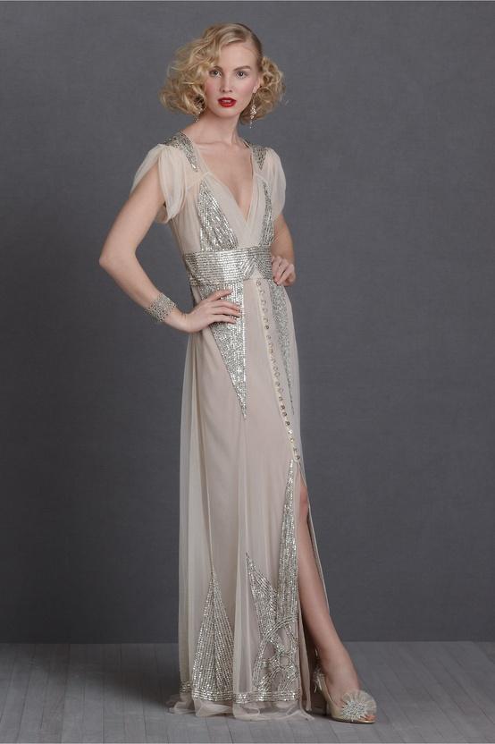 Bhldn Glitter Wedding Dress