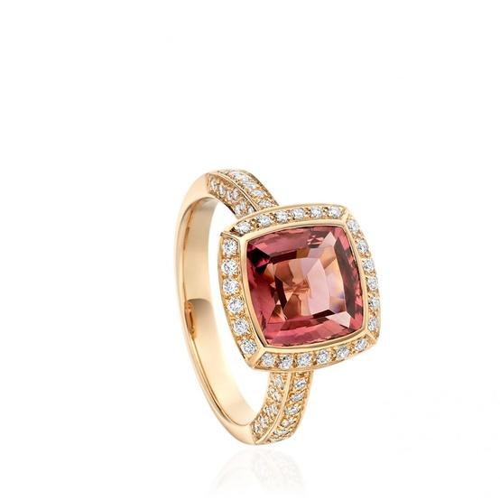 Pink Gem Rose Gold Ring...