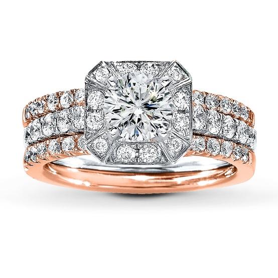 Rose Gold Bridal Setting Ring...