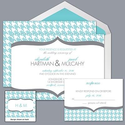 Houndstooth Wedding Invitation...