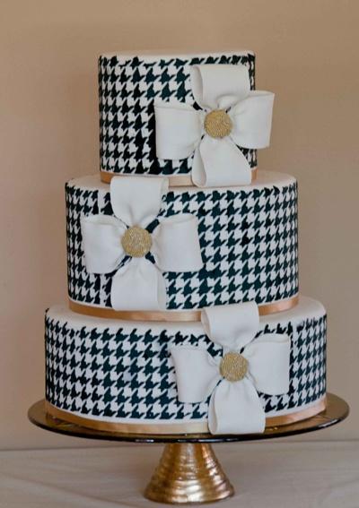 Houndstooth Wedding Cake...