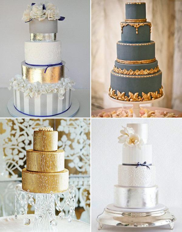 7 Metallic Wedding Cake