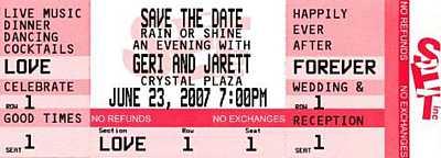 3 Event Ticket