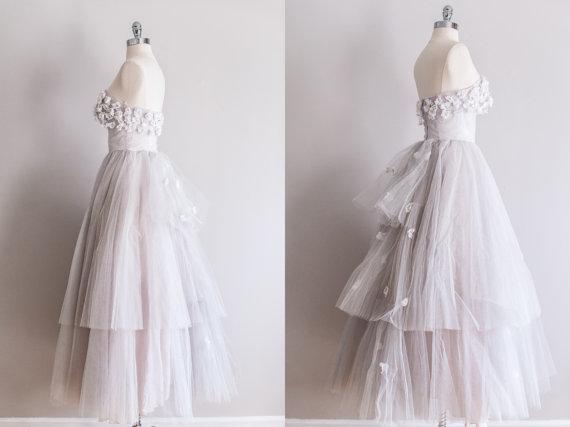 1950s Tulle Vintage Wedding Dress