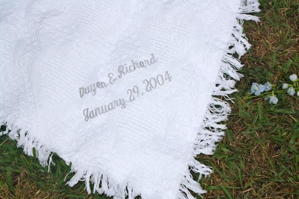 Monogrammed Blankets