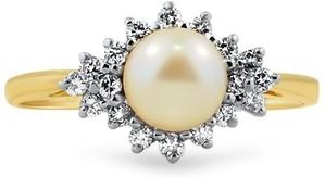 Precious Pearl Cradled in Diamonds