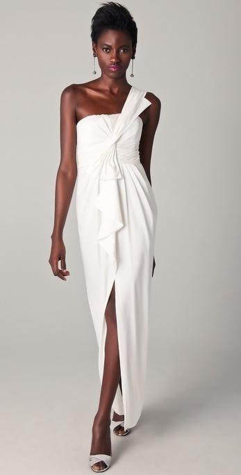 BCBGMAXAZRIA in Barbara One-Shoulder Gown
