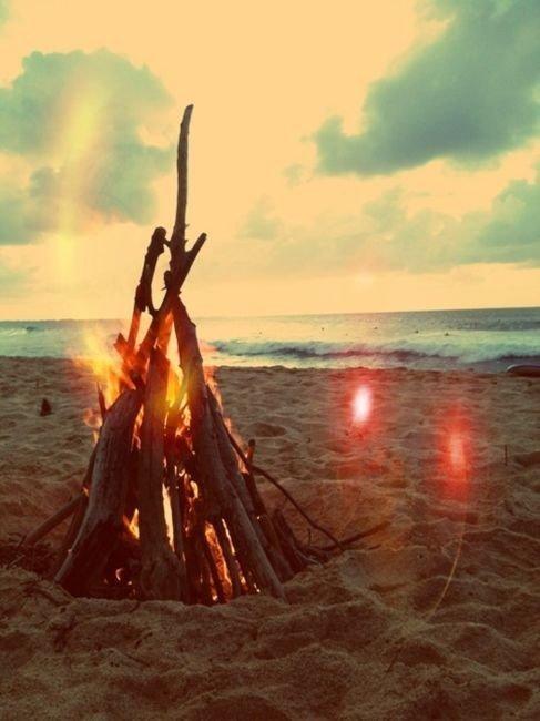 An Outdoor Bonfire